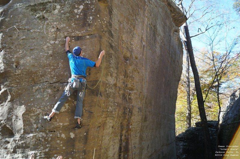 Rock Climbing Photo: James, clipping