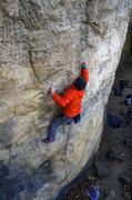 Rock Climbing Photo: Cranking through tweaky crux. Nov 2014.