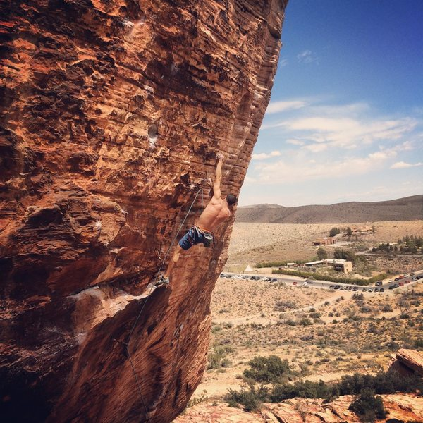 Rock Climbing Photo: Pulling through NWH on my 4th go for the send. Spr...