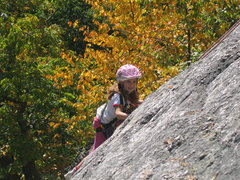 Rock Climbing Photo: Alexa Chalnick at 6 years old climbing the practic...