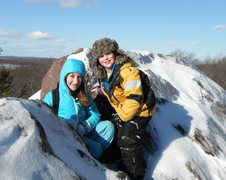 Rock Climbing Photo: Jonah and Alexa Chalnick on summit in Bearford Mou...