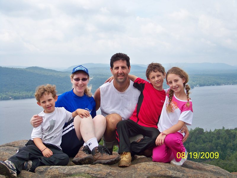 The Chalnick Family on top of Rocky Mountain, Inlet NY
