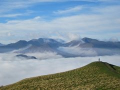 Rock Climbing Photo: Looking towards Causey and Grisdale Mts from Latri...