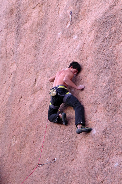 Rock Climbing Photo: Joseph Williams climbing Barracuda