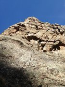 Rock Climbing Photo: Taken from one 4th class pitch below Pale Rider, t...