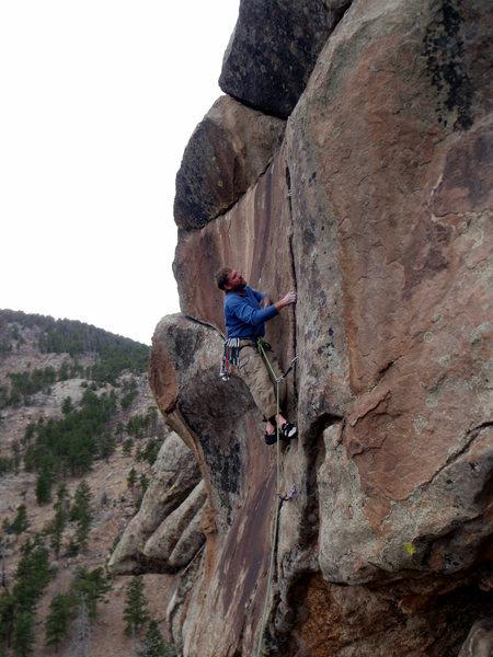 Rock Climbing Photo: Barn Door Ballet.