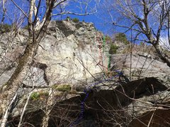 Rock Climbing Photo: A look at Schistine Chapel/Skeleton Crack from bel...