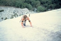 Rock Climbing Photo: Leading the 3rd pitch on the first ascent of pitch...