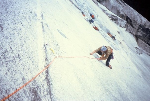 "Following the ""Glass Menagerie"" (8th pitch 5.12a) in 1981."