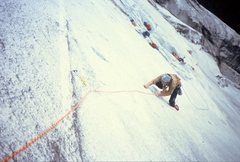 "Rock Climbing Photo: Following the ""Glass Menagerie"" (8th pit..."