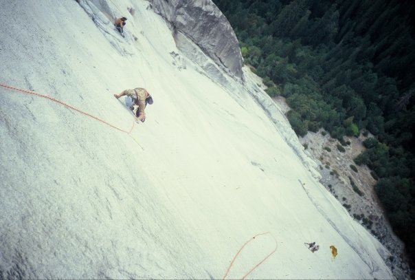 "Another view looking down the ""Glass Menagerie""(5.12a) from the top of the 8th pitch of the Hall of Mirrors."