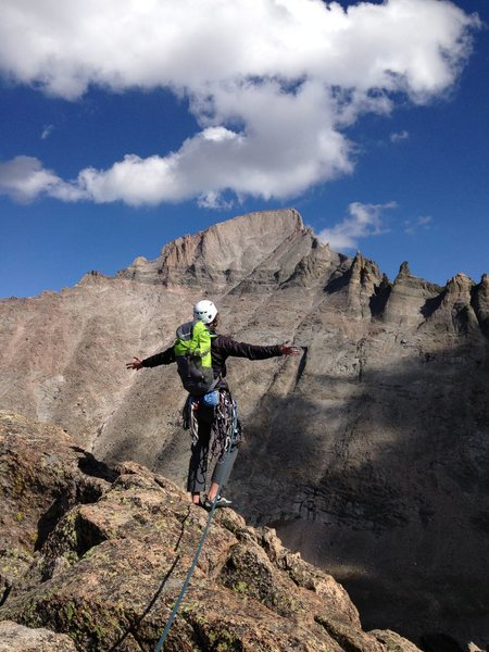 Rock Climbing Photo: On top of Spearhead in RMNP.
