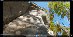 Rock Climbing Photo: View from bottom of route.