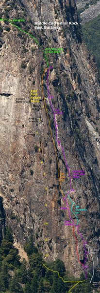 Topo of the new rap route on EBMC