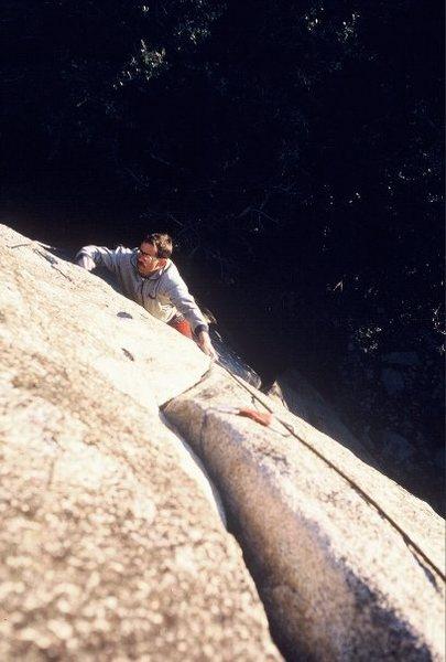 Scott Cole follows Rocket In My Pocket (5.11c) in 1985