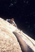 Rock Climbing Photo: Scott Cole follows Rocket In My Pocket (5.11c) in ...