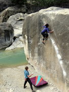 Rock Climbing Photo: Goldie, angling.
