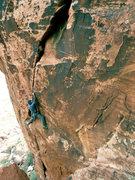 Rock Climbing Photo: Darshan on Shit howdy, a fun crack in a novel loca...