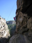 Rock Climbing Photo: On lower Child's Play in the typical afternoon sha...