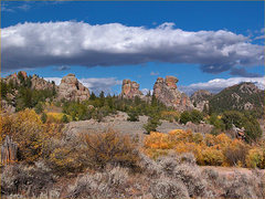 Rock Climbing Photo: The Three Blairs, appearing right to left: #1 (rig...
