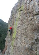 Rock Climbing Photo: High above Clear Creek on Portrait in Flesh.