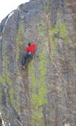 Rock Climbing Photo: Entering the crux on Portrait in Flesh.