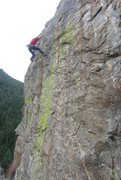 Rock Climbing Photo: Coming off the crux of Portrait in Flesh.