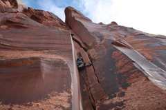 Rock Climbing Photo: Whatever works on Double Cracks!