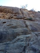 Rock Climbing Photo: Ruthless Poodles 5.10b on the left and The Crack 5...