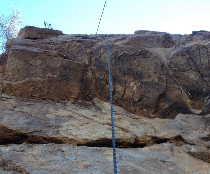 Rock Climbing Photo: View from the ledge under the roof on I Love LA 5....