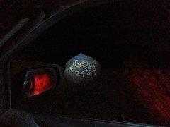 Rock Climbing Photo: Roadside sign at the mouth of Berdoo Canyon, Joshu...