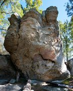 Rock Climbing Photo: Full frontal of the Throne of God.  RTYD is on the...
