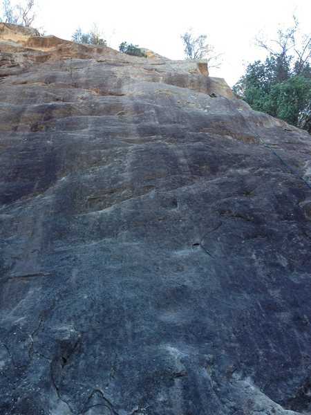 Rock Climbing Photo: This is the far right route on the left side crag ...