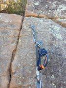Rock Climbing Photo: The anchor on I Love LA on 11/5/2014