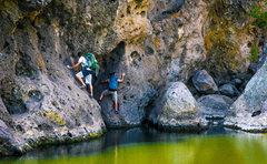 Rock Climbing Photo: Traverse at the Rock Pool