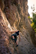 Rock Climbing Photo: Justin on Gorgeous (10a) at Mount Gorgeous