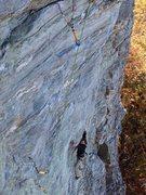 Rock Climbing Photo: Feet don't fail me now or I'm gonna rip that gear ...