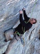 Rock Climbing Photo: In the second crux.