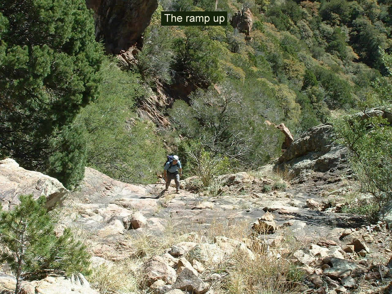Rock Climbing Photo: The ramp we took on the approach back in 2004. Pro...