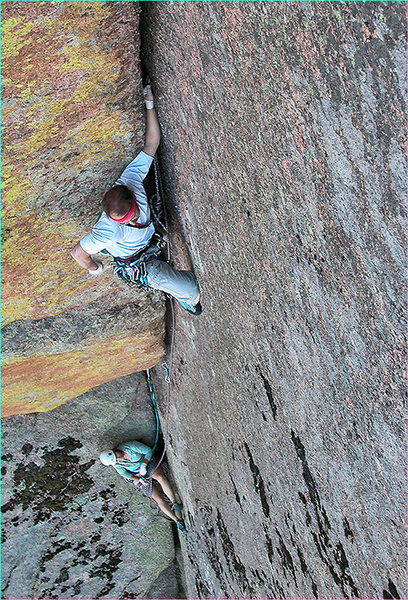 Rock Climbing Photo: Chalk up, man, you've got a long way to go! (Jeb S...