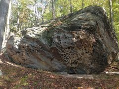 Rock Climbing Photo: The steep face of the Hive Boulder