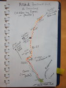 Rock Climbing Photo: Topo P2 Pencilneck Geek (Variation ?)
