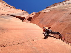 Rock Climbing Photo: This is 5.11-5.12 (A0) depending on when you want ...