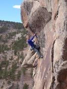 Rock Climbing Photo: Dede on Pinch Me arete.
