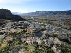 Rock Climbing Photo: View south down the Okanogan Valley from the top o...