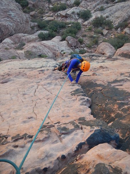 Fun crack. New to trad and agree with all the above comments. First pitch is easy but the second pitch is a little tricky. I'd def like to follow my leader a few more times before I lead the second pitch.