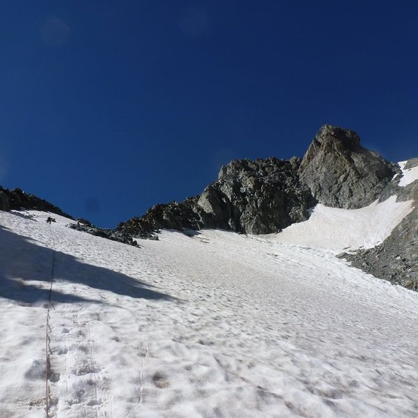 Rock Climbing Photo: Second snowfield, the brosse clearly in view. Do n...