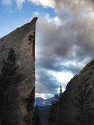 Rock Climbing Photo: Bryce climbing.