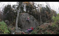 Rock Climbing Photo: Just past the crux section on the first ascent of ...