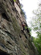 Rock Climbing Photo: Les getting into the business on Silent Runner, Su...
